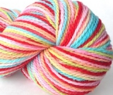 'Saltwater Taffy' on Mountain Meadow Merino wool JUMBO skein