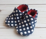 Navy Dots: Soft Sole Baby Shoes 0-3M