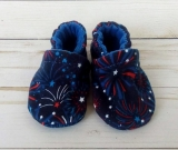 4th of July Fireworks: Soft Sole Baby Shoes 0-3M