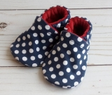 Navy Dots: Soft Sole Baby Shoes 3-6M