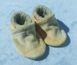Pastels: LWI Bamboo Velour Slippers 0-3M