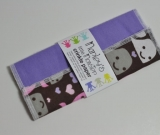 CRINKLE PAPER baby toy. Whales and solid purple
