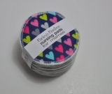 5 PAIRS nursing pads. Colorful hearts