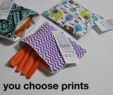 3 REUSABLE sandwich and snack bags. You choose prints