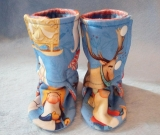 Winter Gnomes: Soft Sole Baby Boots 3-6M