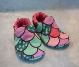 Mermaid Scales: Soft Soled Baby Shoes 0-3M