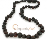 Baltic Amber Necklace - Kids Unpolished Molasses - Teething, Health & Wellness