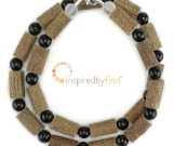 Black Tourmaline Gemstone & Hazel Necklace - Buffer from Negativity & Compulsive Behavior
