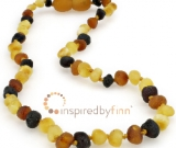 Baltic Amber Necklace - Kids Unpolished Diversity - Teething, Health & Wellness