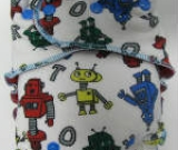 Robots (imported) /w red cotton velour - serged multi-size