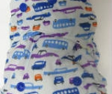 Blue Retro Cars /w blue cotton velour soakers - PUL Ai2