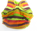 Autumn Stripe /w lime cotton velour - newborn
