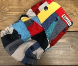 Scrap Quilt /w grey cotton velour soakers - Designer Woven Hidden PUL Ai2