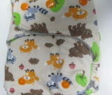 Forest Friends /w grey organic bamboo velour - T&T multi-size