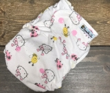 Hello Kitty /w pink cotton velour soakers - Designer Woven Hidden PUL Ai2