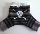 Small Skull Recycled Wool Shorties with Interlock