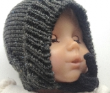 6-18+ months - Baby Toddler Dark Green Acrylic Knit Bonnet - Winter Hat