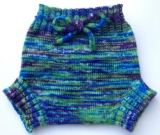 6-18 months Diaper Cover Wool - Medium-Large Machine knit Hand dyed Wool Soaker