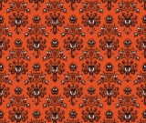 1yd Cut HM Wallpaper Orange Small Scale Cotton Lycra Retail