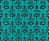 1yd Cut HM Wallpaper Teal Small Scale Cotton Lycra Retail