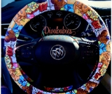 Custom Stacked Snacks Steering Wheel Cover