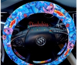 Custom Stitch and Angel Inspired Steering Wheel Cover