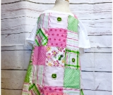 Ladies Green Tractor Apron