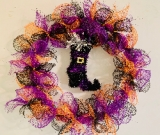 Halloween Wreath - Witches welcome
