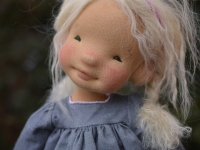"Hazel- 18"" natural fiber art doll"