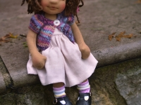 "Julia- 13"" Natural Fiber Art Doll"