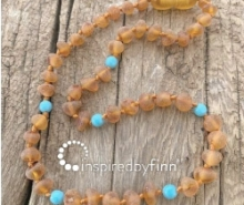 Baltic Amber Necklace - Kids Unpolished Blue Cider