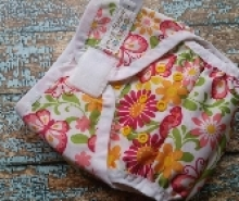 Two Step Cloth Diaper Cover Butterfly Garden