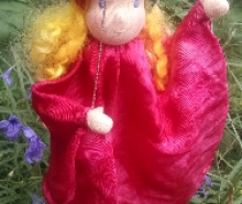 Autumn Garden Silk Marionette Puppet - Ready To Sh