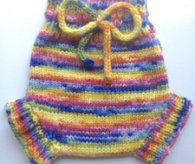 6-12+ months - Wool Diaper Cover  - Hand dyed Rain