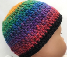 Rainbow Crocheted Baby Acrylic Hat