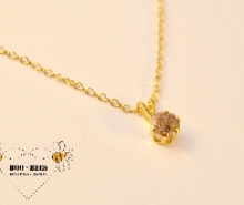 Solitaire Gold Enchantment necklace w/ashes (enamo
