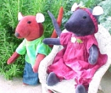 Button Jointed Mouse, 15 Inch Waldorf Animal Doll,